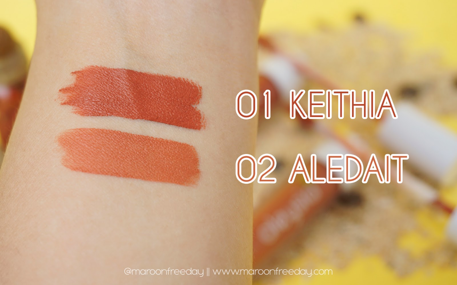 Swatches Aleysia Beauty Lipshade