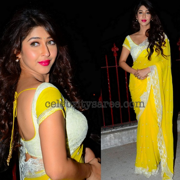 Sonarika Yellow Designer Saree