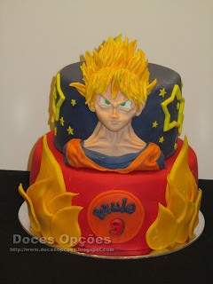 Bolo de aniversário Dragon Ball