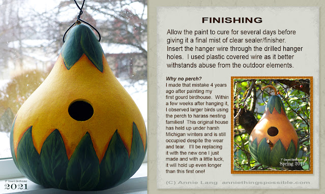 Annie Lang shows you how to DIY a cozy kettle gourd birdhouse that will last for years with a few basic craft supplies because Annie Things Possible!