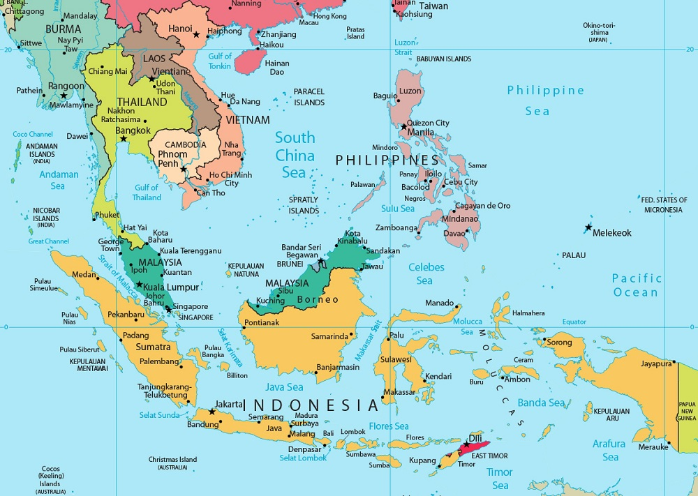 Peta Negara di Asia Tenggara