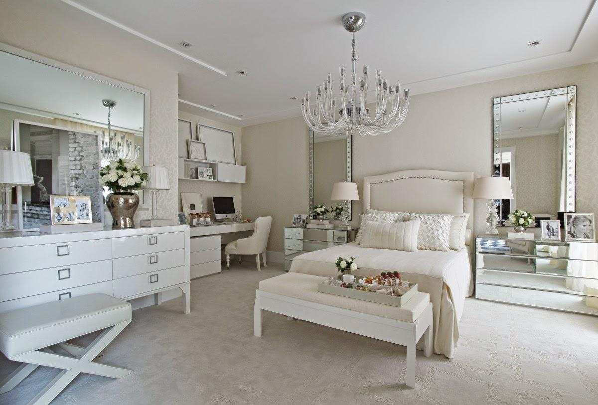 Construindo Minha Casa Clean Quarto De Casal Decorado Com  ~ Luminaria Quarto Teto E Quarto Moderno De Casal