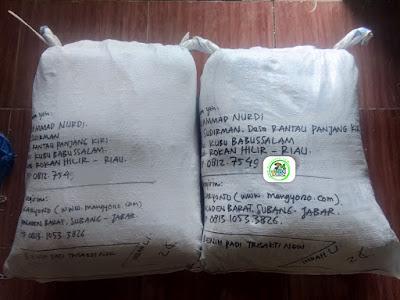 Benih padi TRISAKTI NEW 50 Kg atau 10 Sak  Pesanan MUAMMAD NURDI Rokan Hilir, Riau.  (Sesudah Packing)