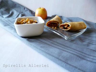 leckere Apfelstrudel ähnliche Pfannkuchen