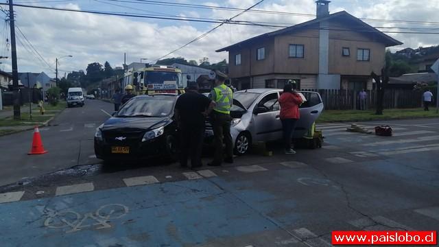 Osorno: Accidente vehícular en el sector de Rahue Bajo