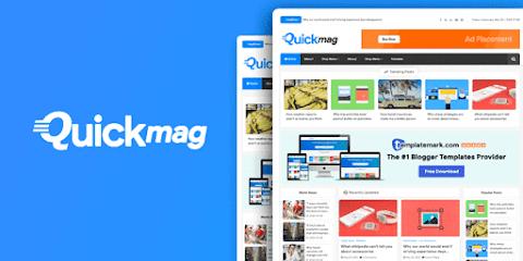Quick Mag Premium Magazine Blogger Template Free Download