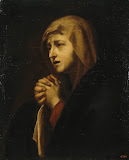 Virgin Mary Mourning by Jose de Ribera - Religious Paintings from Hermitage Museum