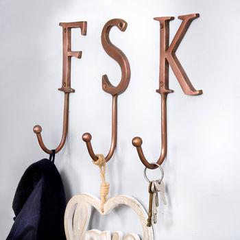 Bronze metal letter hooks