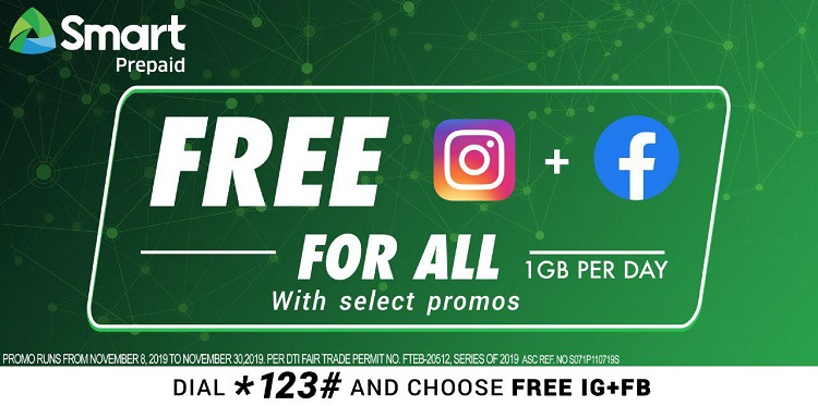 Smart, TNT Prepaid Promos Now Come with FREE Facebook and Instagram