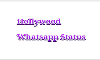 Hollywood Whatsapp status