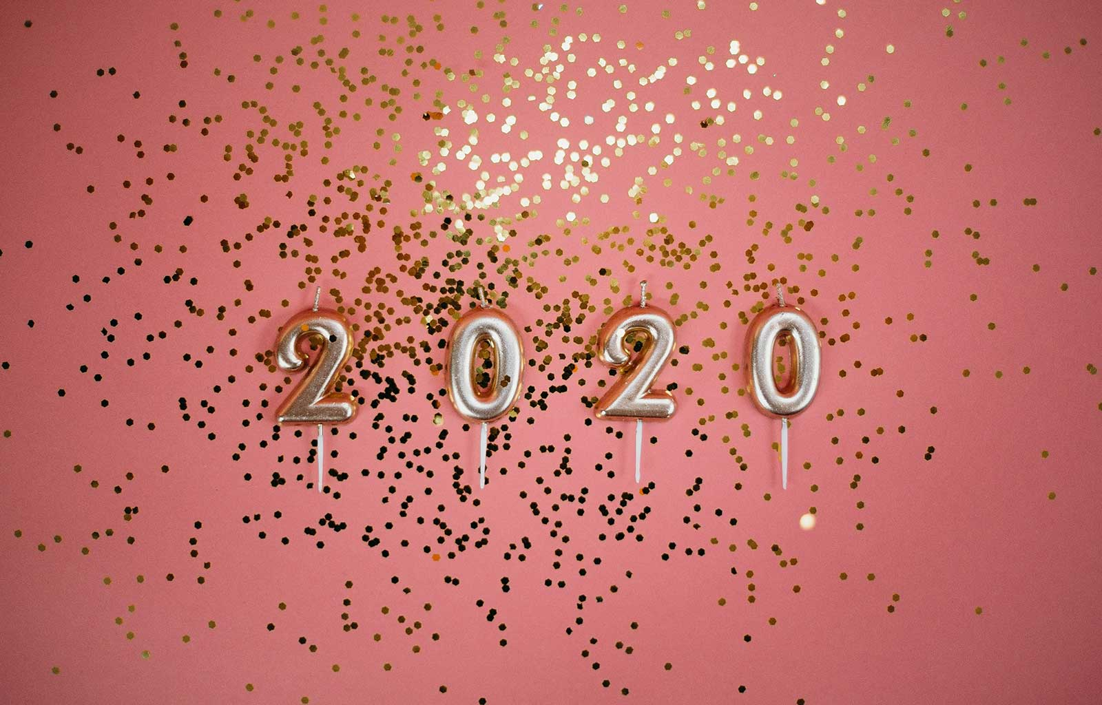 bougies paillettes 2020