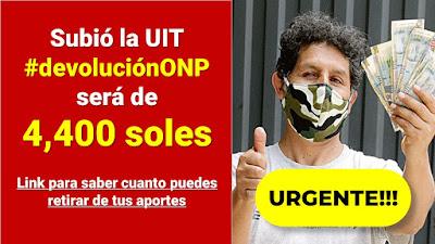 La devolución ONP subió a 4,400 soles y este es el estado actual de la #devolucionONP