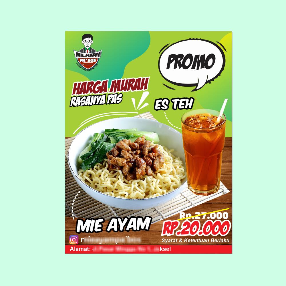 Download Desain Banner Diskon Mie Ayam dan Es Teh - Tips ...