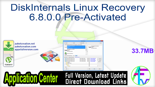 DiskInternals Linux Recovery 6.8.0.0 Pre-Activated