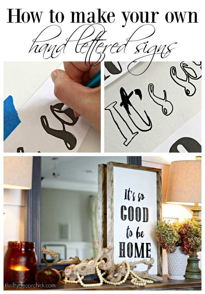 easily make your own hand lettered art