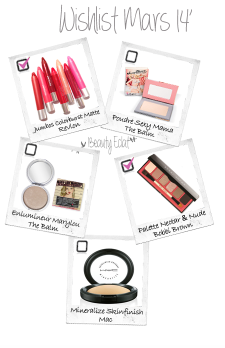 wishlist beaute revlon the balm mac bobbi brown