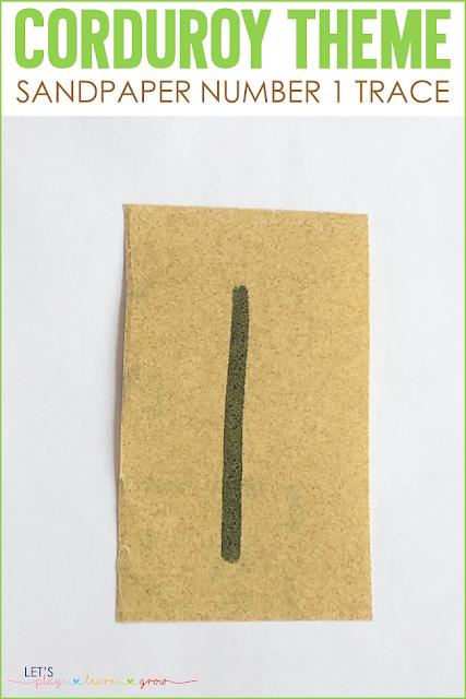 Corduroy: Sandpaper Number 1 Trace