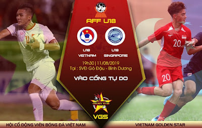 Live Streaming  Vietnam vs Singapore 11.8..2019 (AFF U18)