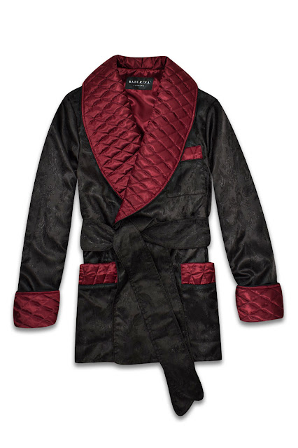 mens black paisley silk robe burgundy dressing gown dark red quilted smoking jacket