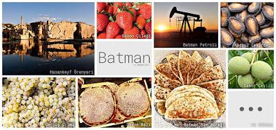Batman'ın meşhur şeylerini gösteren resimlerden oluşan kolaj