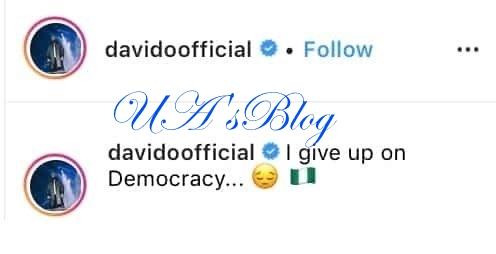 Davido Reacts To Arrest Of His Uncle, Senator Ademola Adeleke