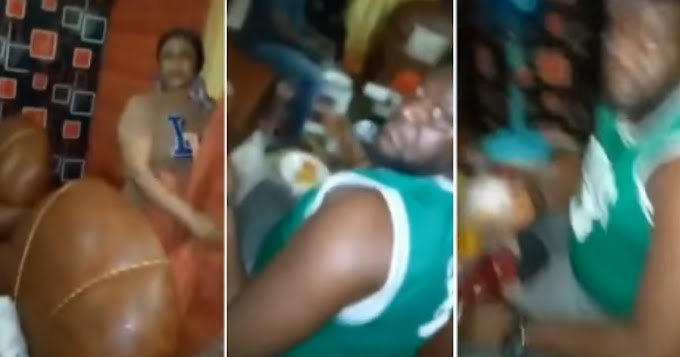 Drama As Man Catches Wife Feeding Her Lover In Their Matrimonial Home (Video)