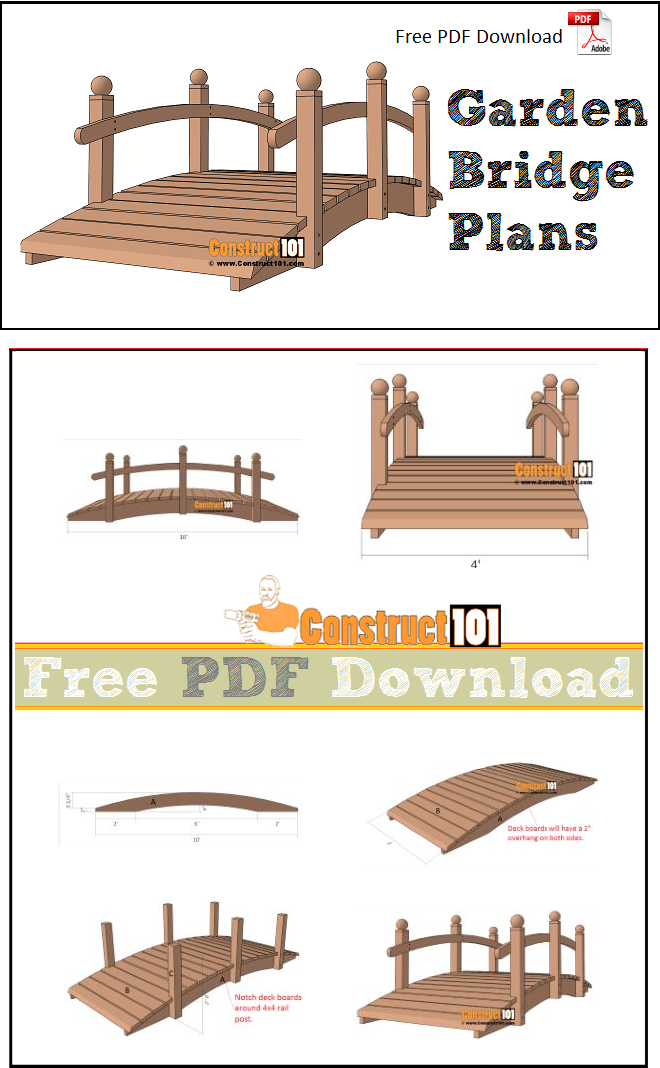 How to build a storage shed - How to build a garden bridge with an arch ...