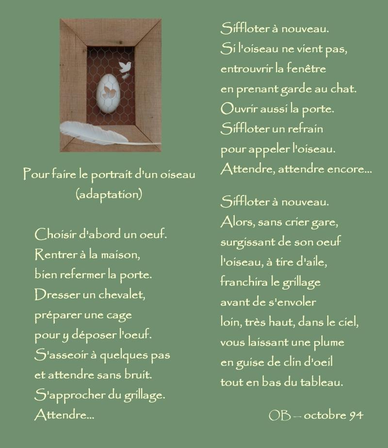 LOiseau Pour faire le portrait dun oiseau Jacques Prévert Cover