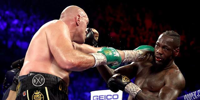 Tyson Fury Bloodies Deontay Wilder