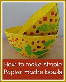 how to make simple papier mache bowls