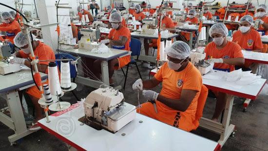 detentos maranhao produzir milhao mascaras populacao