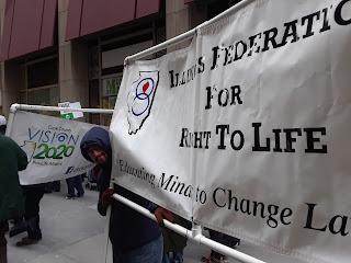 Illinois Federation for Right to Life Banner at the 2018 Chicago March for Life
