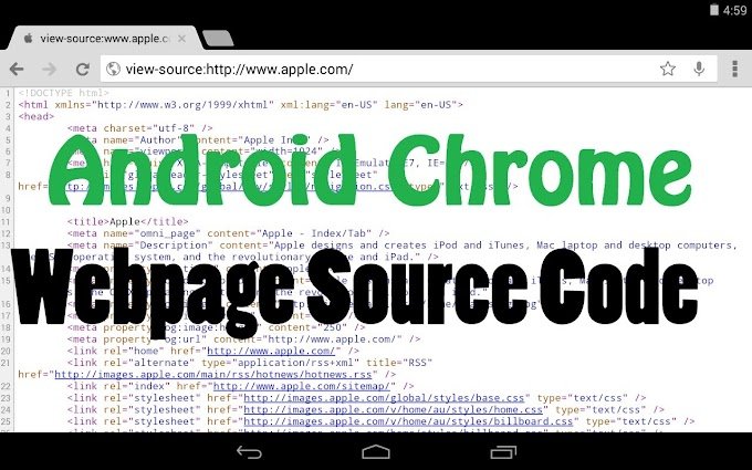 Cara View Page Source website di Android