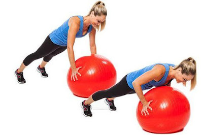 Stability Ball Workout For Strong Core Abs & Legs