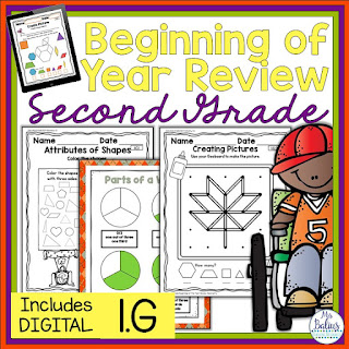 Beginning of the Year resource for standard I.G.