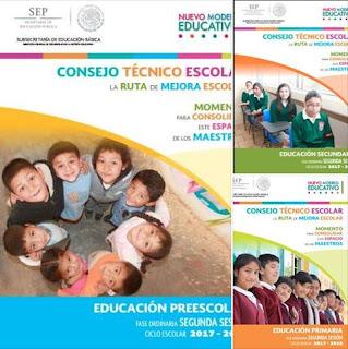 Guías de Consejo Técnico Escolar 2017-2018 - Segunda Sesión