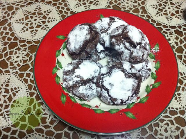 ραγισμένμα μπισκότα σοκολάτας