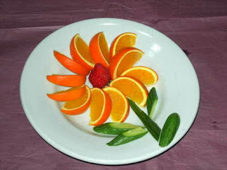 Món ăn ngon và đẹp: hoa từ cam