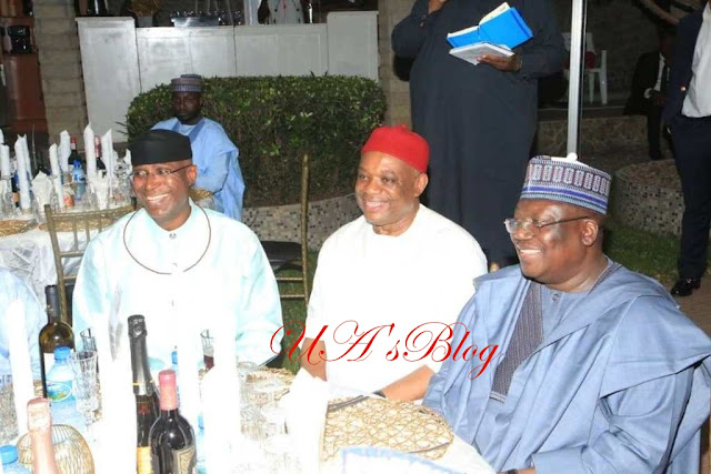 Sen. Orji Kalu Hosts Lawan, Omo-Agege To Dinner