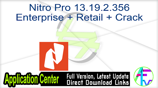 Nitro Pro 13.19.2.356 Enterprise + Retail + Crack
