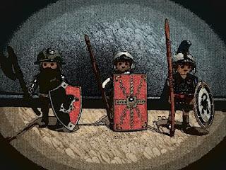 Distintas panoplias de guerreros