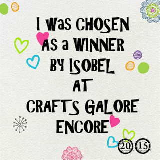Chosen Winner at Crafts Galore Encore January 2016 Challenge
