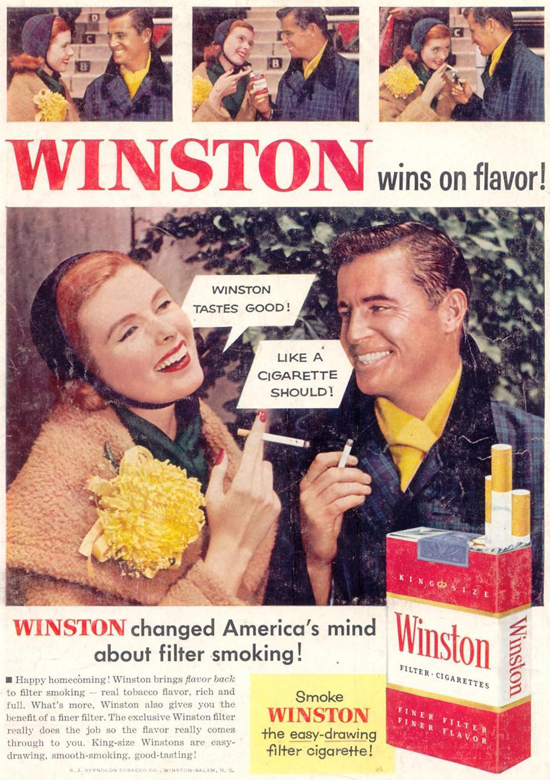 Winston advertisement 1955 - couple - C