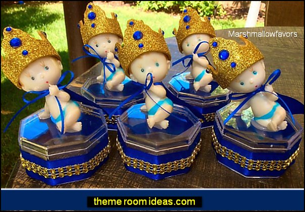 Royal blue Baby shower - Little prince baby shower-little prince favors- Royal blue baby shower- royal prince baby shower