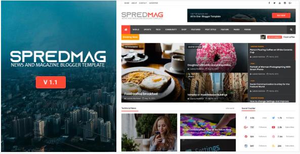 SpredMag Template Blogger Responsive