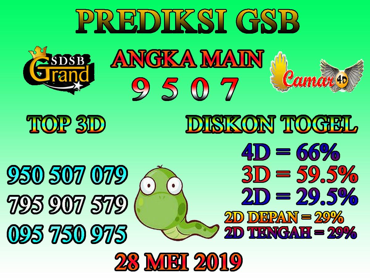 Prediksi Togel GSB 28 Mei 2019 - Prediksi Togel Lengkap