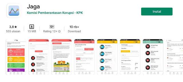 Aplikasi Jaga Bansos KPK