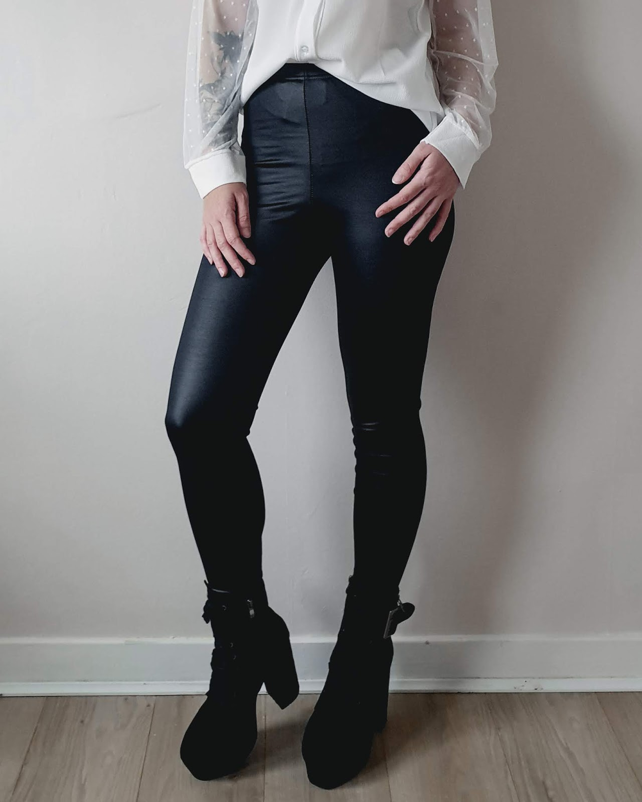Femme Luxe Leather Look Leggings