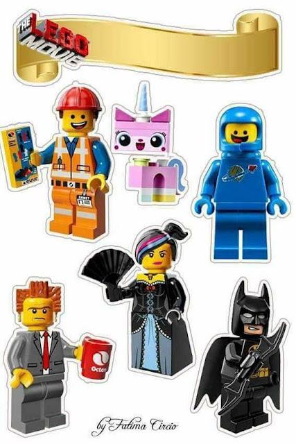 Lego Película: Toppers para Tartas, Tortas, Pasteles, Bizcochos o Cakes para Imprimir Gratis.
