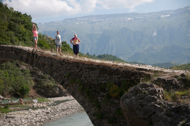 Old bridge in Benjë, Albania
